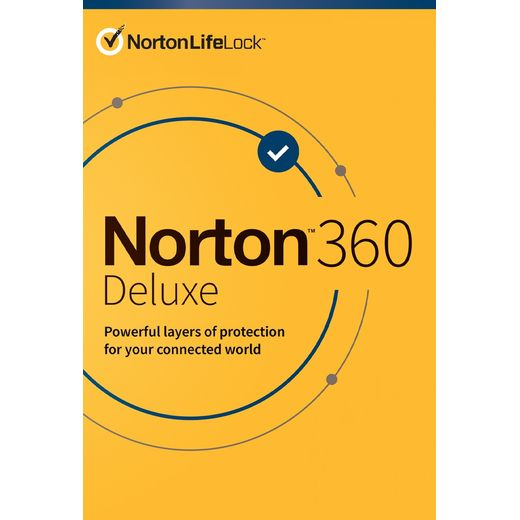 Norton 360 Deluxe for 1 Device - One Time Purchase, 1 Year