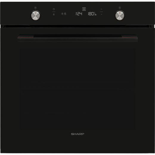 Sharp K-71Z68BNM-EN Built In Electric Single Oven - Black - A Rated