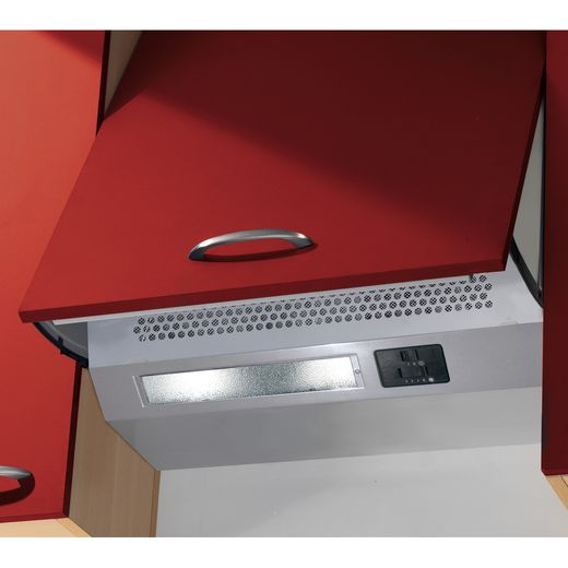 Baumatic BEINT60X 60 cm Integrated Cooker Hood - Metallic - C Rated
