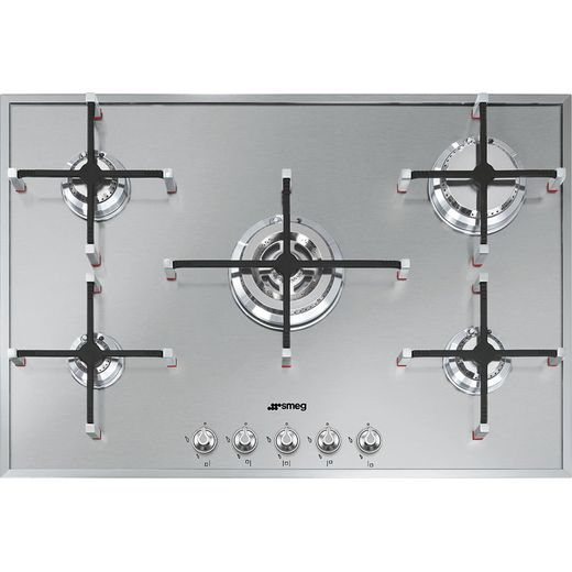 Smeg Linea PX7502 Built In Gas Hob - Stainless Steel
