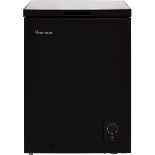 Fridgemaster MCF142B Chest Freezer - Black - F Rated
