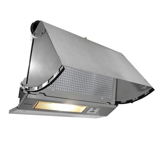 Candy CBP612/4GR 60 cm Integrated Cooker Hood - Grey - C Rated