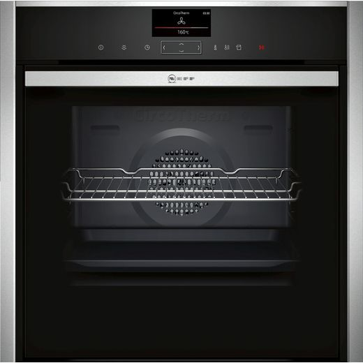 NEFF N90 Slide&Hide® B47FS34H0B Wifi Connected Built In Electric Single Oven with added Steam Function - Stainless Steel - A+ Rated