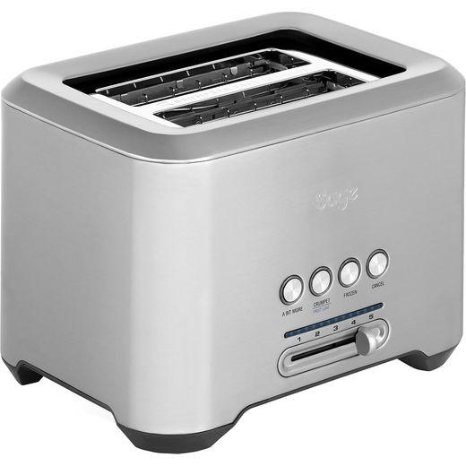 Sage The Bit More 2 Slice BTA720UK 2 Slice Toaster - Stainless Steel