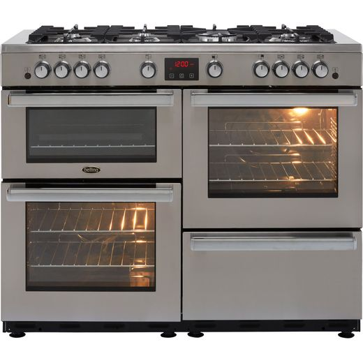 Belling Cookcentre110G Prof 110cm Gas Range Cooker - Stainless Steel - A/A Rated