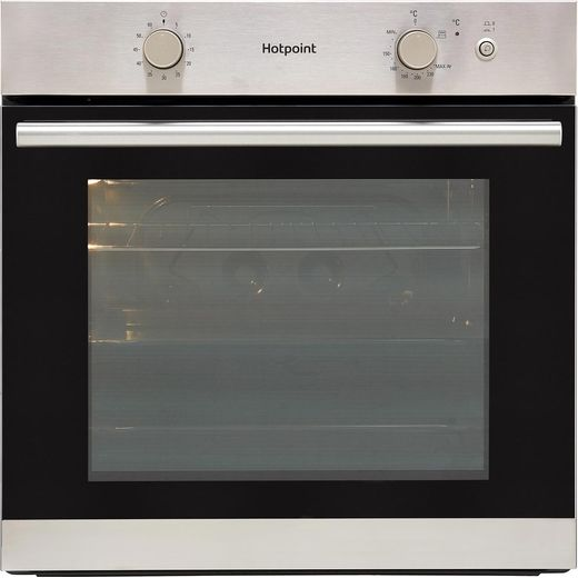 Hotpoint GA2124IX Built In Gas Single Oven with Electric Grill - Stainless Steel - A+ Rated