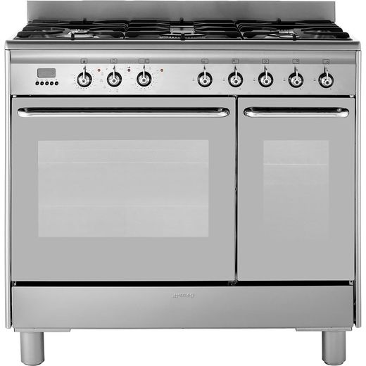 Smeg CG92PX9 90cm Dual Fuel Range Cooker - Stainless Steel - A/A Rated