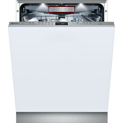 NEFF N70 S515U80D2G Fully Integrated Standard Dishwasher - Stainless Steel Control Panel with Fixed Door Fixing Kit - E Rated