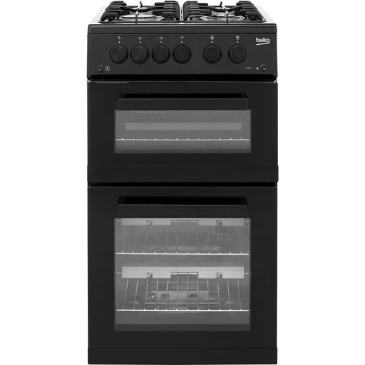 Beko KDG582K 50cm Gas Cooker with Full Width Gas Grill - Black - A+ Rated