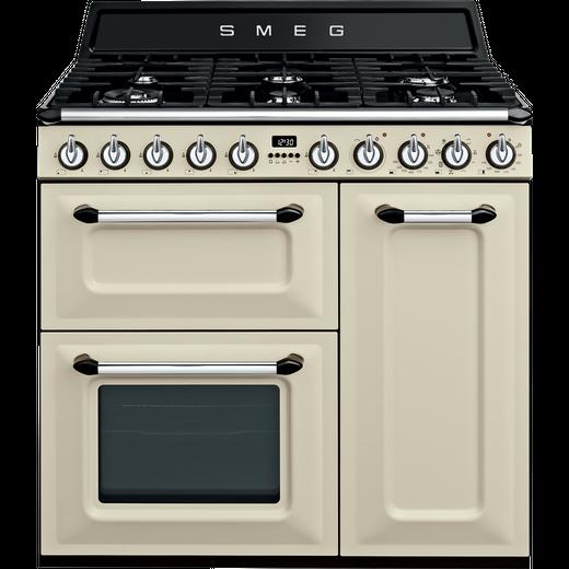 Smeg Victoria TR93P 90cm Dual Fuel Range Cooker - Cream - A/B Rated