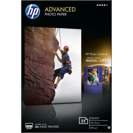 HP Advanced Glossy Photo Paper-25 sht/10 x 15 cm
