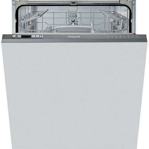 Hotpoint HIC3B19CUK Fully Integrated Standard Dishwasher - Graphite Control Panel with Fixed Door Fixing Kit - F Rated