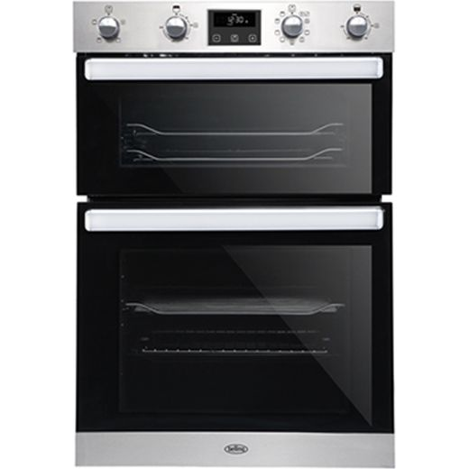 Belling BI902MFCT Built In Electric Double Oven - Stainless Steel - A/A Rated