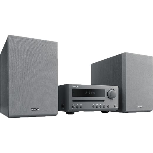 Denon DT1GYE2GB 30 Watt Hi-Fi System with Bluetooth - Grey