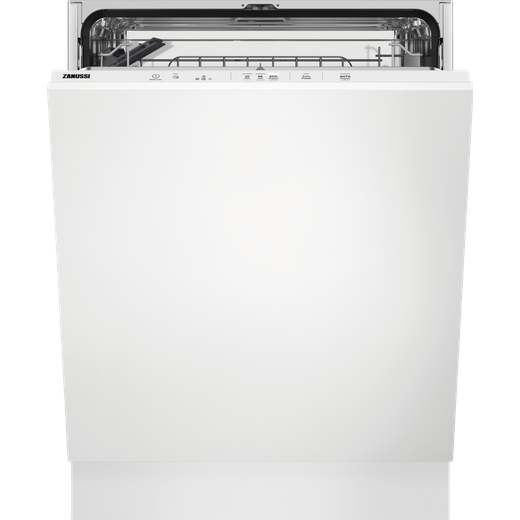 Zanussi ZDLN2521 Fully Integrated Standard Dishwasher - White Control Panel with Fixed Door Fixing Kit - E Rated