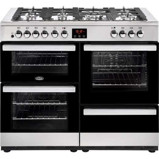 Belling Cookcentre110DFT 110cm Dual Fuel Range Cooker - Stainless Steel - A/A Rated