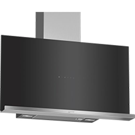 NEFF N70 D95FRM1S0B 89 cm Angled Chimney Cooker Hood - Black - A Rated
