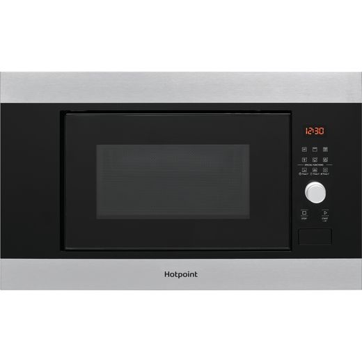 Hotpoint MF20GIXH Built In Microwave With Grill - Stainless Steel Effect
