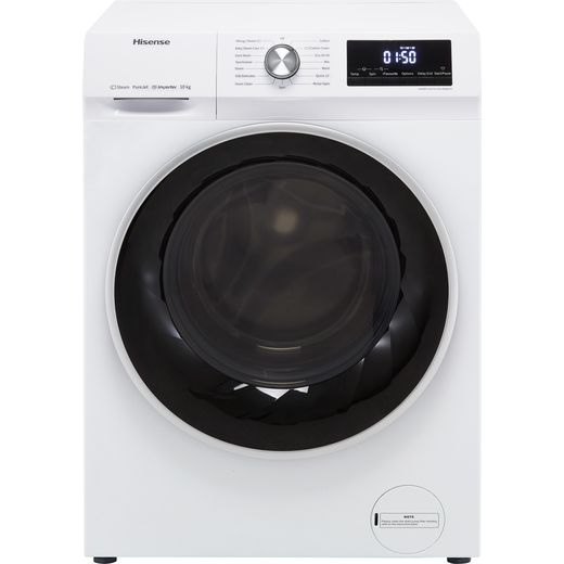 Hisense WFQY1014EVJM 10Kg Washing Machine with 1400 rpm - White - B Rated