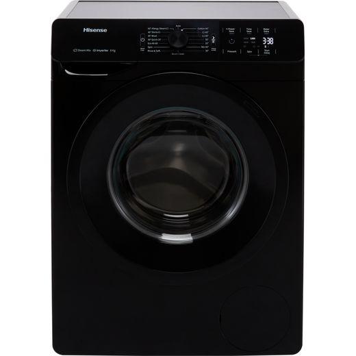 Hisense WFGE80141VMB 8Kg Washing Machine with 1400 rpm - Black - B Rated