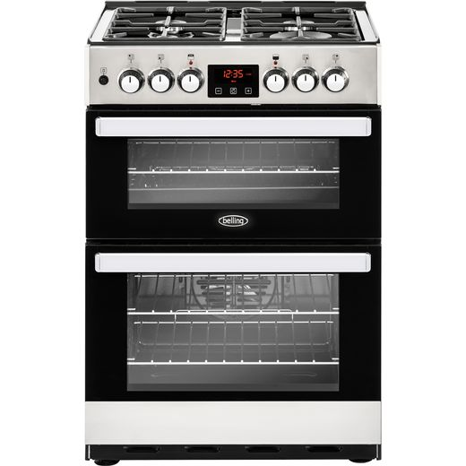 Belling Cookcentre 60DF Dual Fuel Cooker - Stainless Steel - A/A Rated