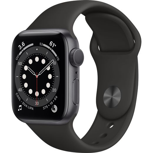 Apple Watch Series 6, 40mm, GPS [2020] - Space Grey Aluminium Case with Black Sport Band