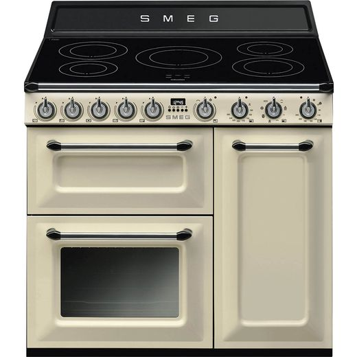 Smeg Victoria TR93IP 90cm Electric Range Cooker with Induction Hob - Cream - A/B Rated