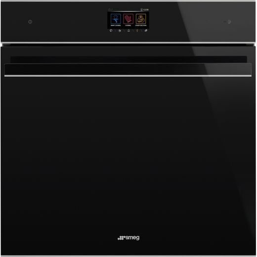 Smeg Dolce Stil Novo SFP6604WTPNX Wifi Connected Built In Electric Single Oven - Black / Stainless Steel - A+ Rated