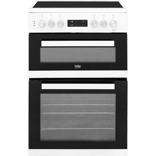 Beko KDC653W 60cm Electric Cooker with Ceramic Hob - White - A/A Rated