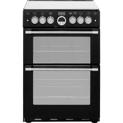 Stoves Sterling STERLING600G 60cm Gas Cooker with Full Width Electric Grill - Black - A/A Rated