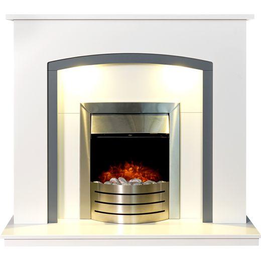 Adam Fires 24104 Pebble - Brushed Steel