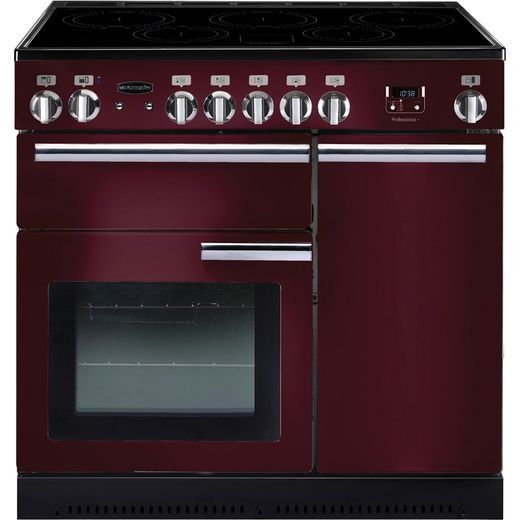 Rangemaster Professional Plus PROP90EICY/C 90cm Electric Range Cooker with Induction Hob - Cranberry - A/A Rated