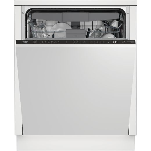 Beko BDIN36520Q Fully Integrated Standard Dishwasher - Black Control Panel - E Rated