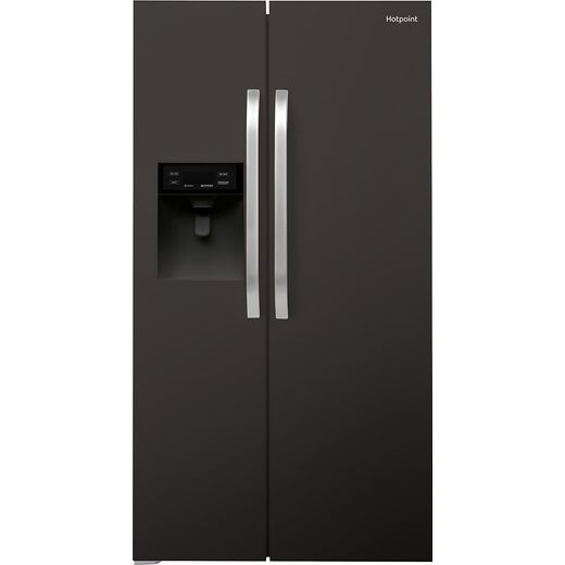 Hotpoint SXBHE925WDUK1 American Fridge Freezer - Black - F Rated