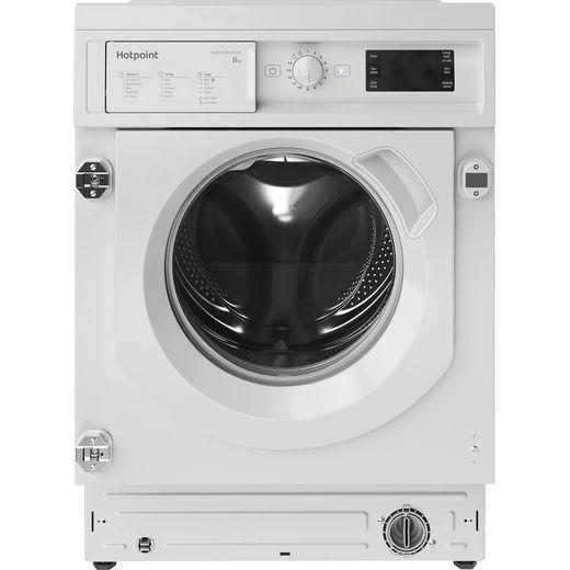 Hotpoint BIWMHG81484UK Integrated 8Kg Washing Machine with 1400 rpm - White - C Rated