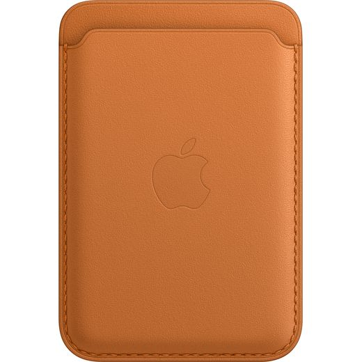Apple Leather Wallet with Magsafe for iPhone 13 - Golden Brown