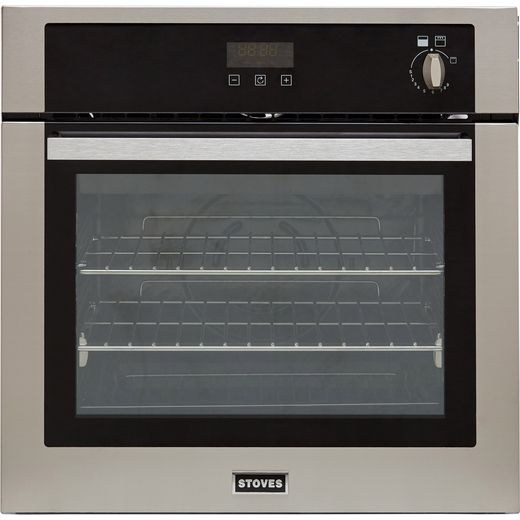 Stoves ST BI600G Built In Gas Single Oven with Full Width Electric Grill - Stainless Steel - A+ Rated