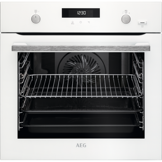 AEG BPS555020W Built In Electric Single Oven with added Steam Function - White - A+ Rated