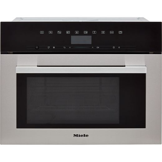 Miele ContourLine DGM7340 Built In Compact Steam Oven - Clean Steel