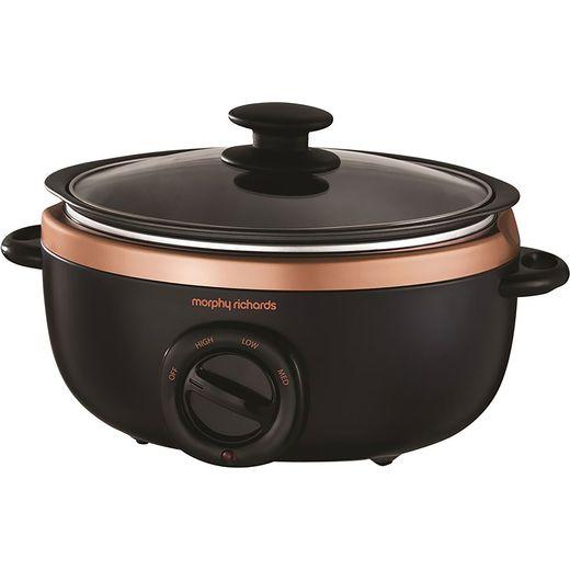 Morphy Richards Evoke Sear And Stew 460016 3.5 Litre Slow Cooker - Black / Rose Gold
