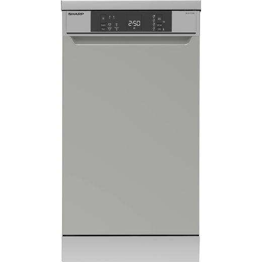 Sharp QW-NS1CF49ES-EN Slimline Dishwasher - Silver - E Rated