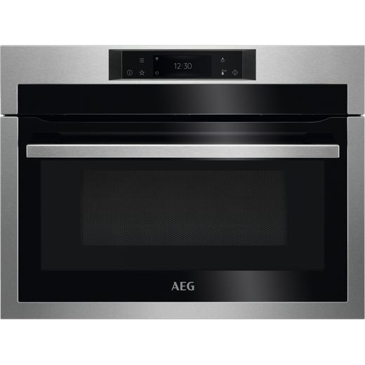 AEG KME768080M Built In Compact Electric Single Oven with Microwave Function - Stainless Steel