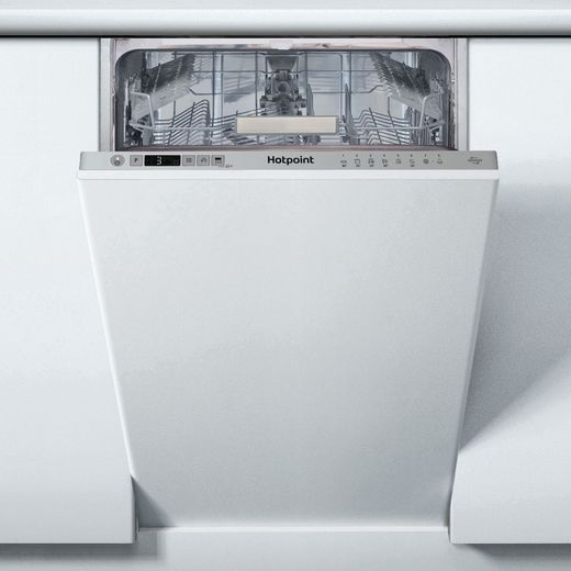 Hotpoint HSIC3T127UKN Built In Slimline Dishwasher - Silver