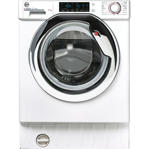 Hoover H-WASH 300 PRO HBWOS69TMCE Wifi Connected Integrated 9Kg Washing Machine with 1600 rpm - White / Chrome - B Rated