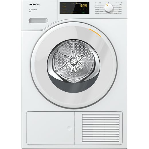 Miele TSD263WP Wifi Connected 8Kg Heat Pump Tumble Dryer - White - A++ Rated