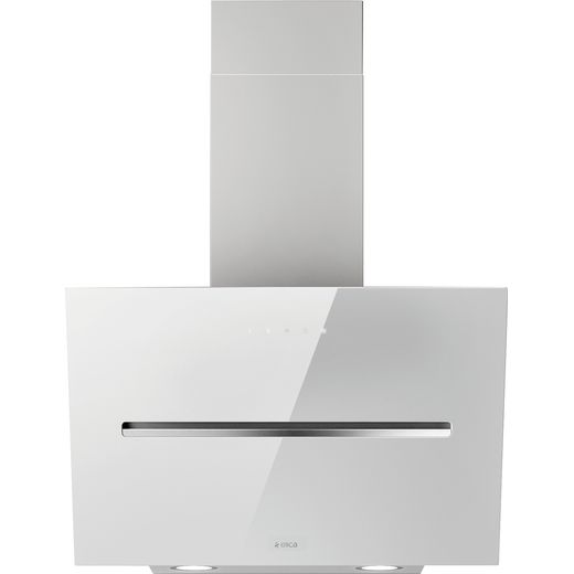 Elica SHY-WH-60 60 cm Chimney Cooker Hood - White Glass - A Rated