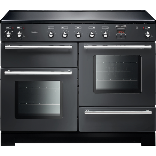 Rangemaster Toledo + TOLP110EISL/C 110cm Electric Range Cooker with Induction Hob - Slate - A/A Rated