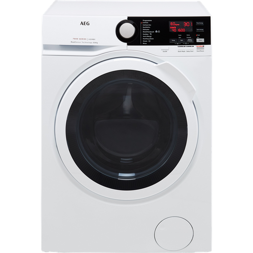 AEG DualSense Technology L7WEE861R 8Kg / 6Kg Washer Dryer with 1550 rpm - White - E Rated