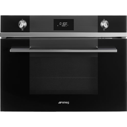 Smeg Linea SF4101MN1 Built In Microwave With Grill - Black