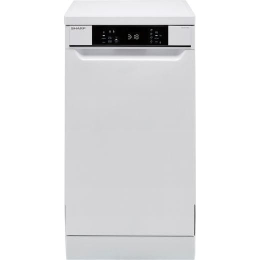 Sharp QW-NS1CF49EW-EN Slimline Dishwasher - White